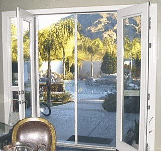 "C.R. Laurence 98"" White Retractable Screen Door Kits"