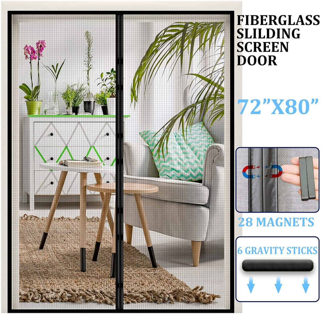 Dysome Magnetic Retractable Screen Door