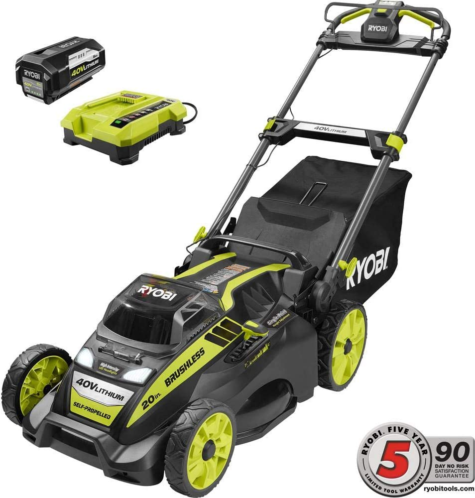 Ryobi RY40190 Self-Propelled Lawn Mower battery pack