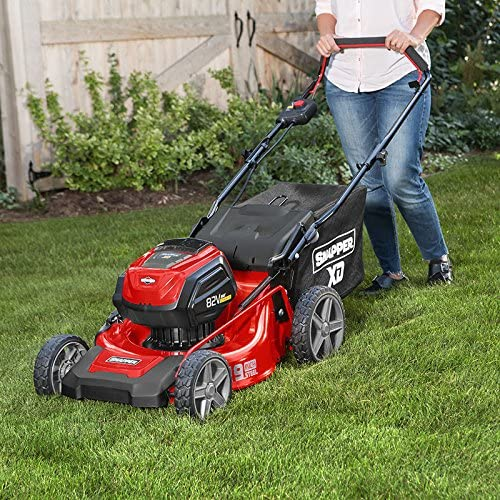 Snapper XD MAX Cordless Electric Push Lawn Mower in the field
