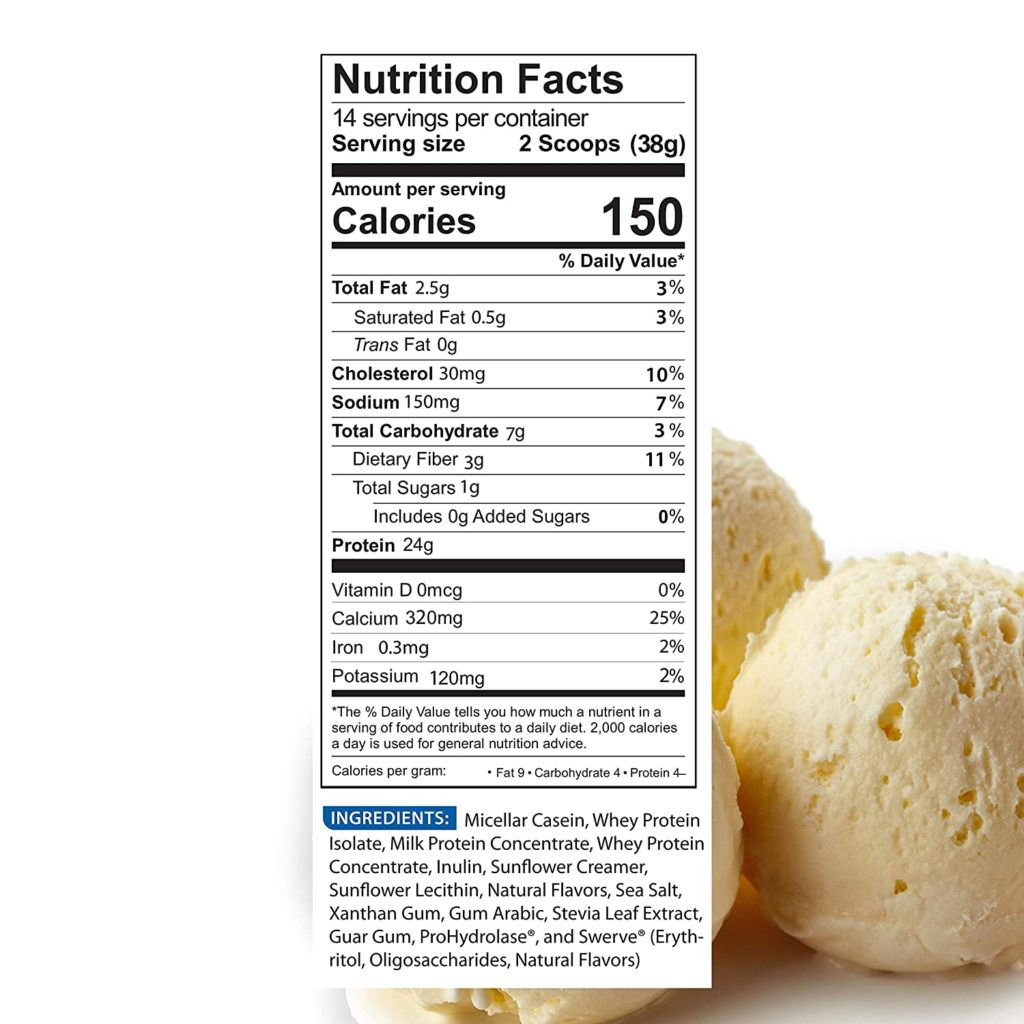 BioTrust Low Carb Protein Powder nutrition facts
