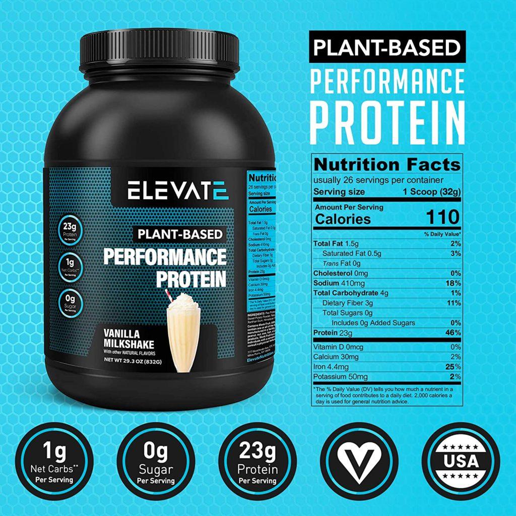 Elevate Plant-Based Vegan Protein Powder