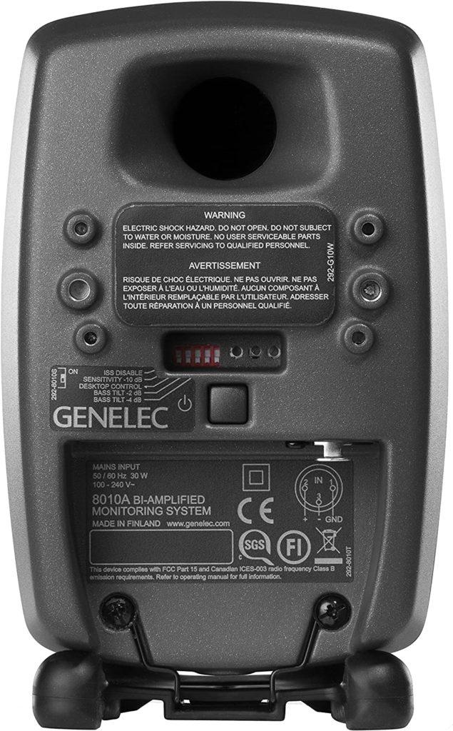 Genelec 8010A ports
