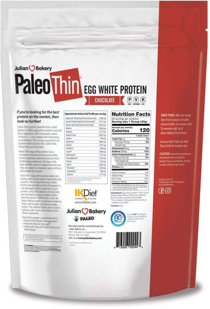 Julian Bakery's Paleo Thin Protein Powder