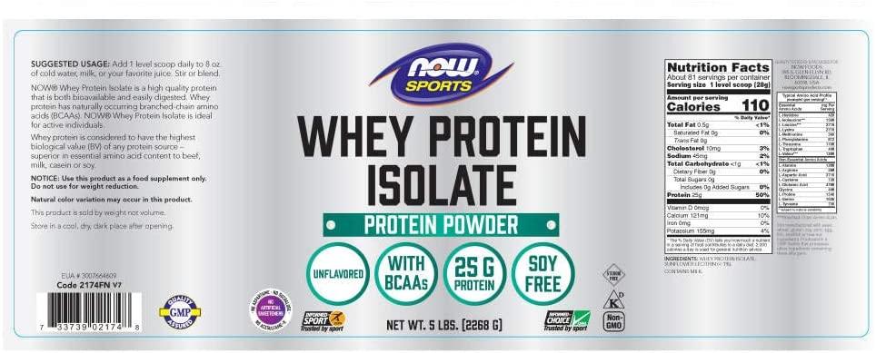 Now Sports Whey Protein Powder