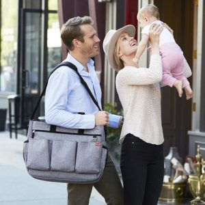 Skip Hop Diaper Tote Bag for Double Strollers