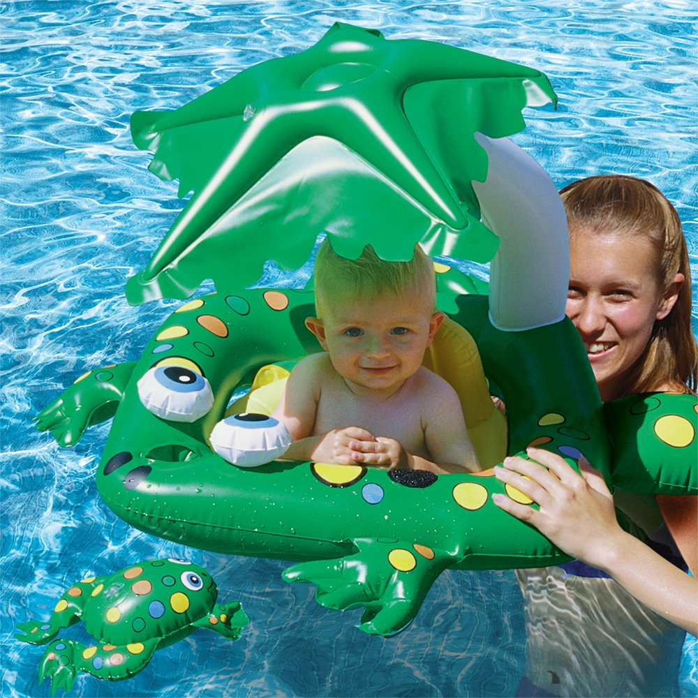 Poolmaster 81555 Learn-to-Swim Pool Float Baby Rider with Sun Protection