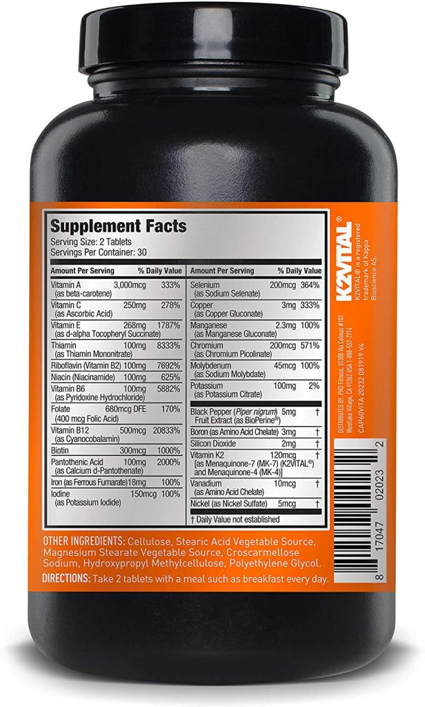JYM Sports Multivitamin supplements
