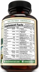 Men's Daily Multimineral by Vimerson Health supplements