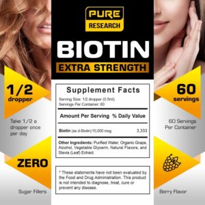 Pure Research Extra Strength Biotin Liquid Drops contents