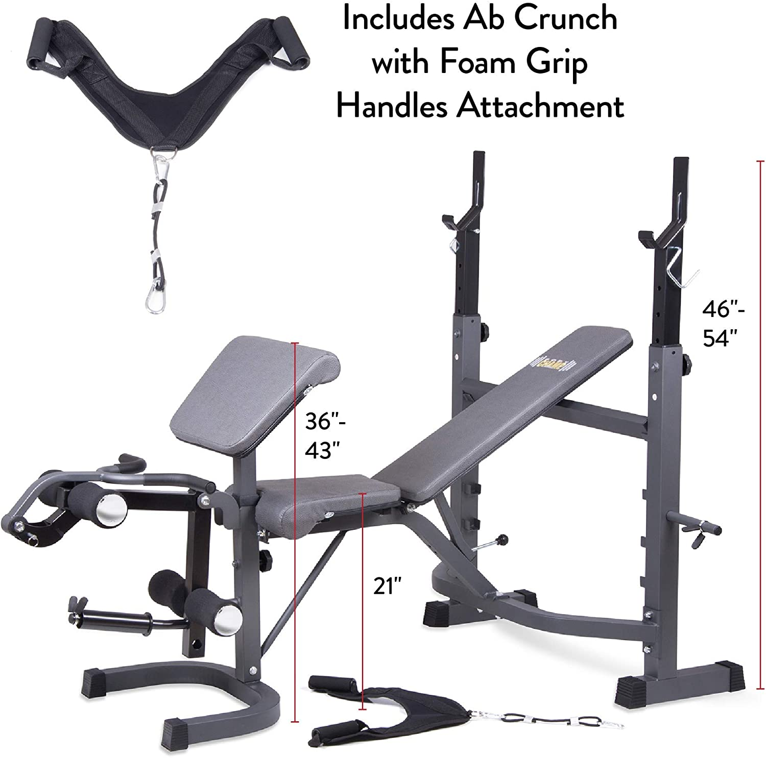 Body Champ BCB5860 Olympic Weight Bench specs