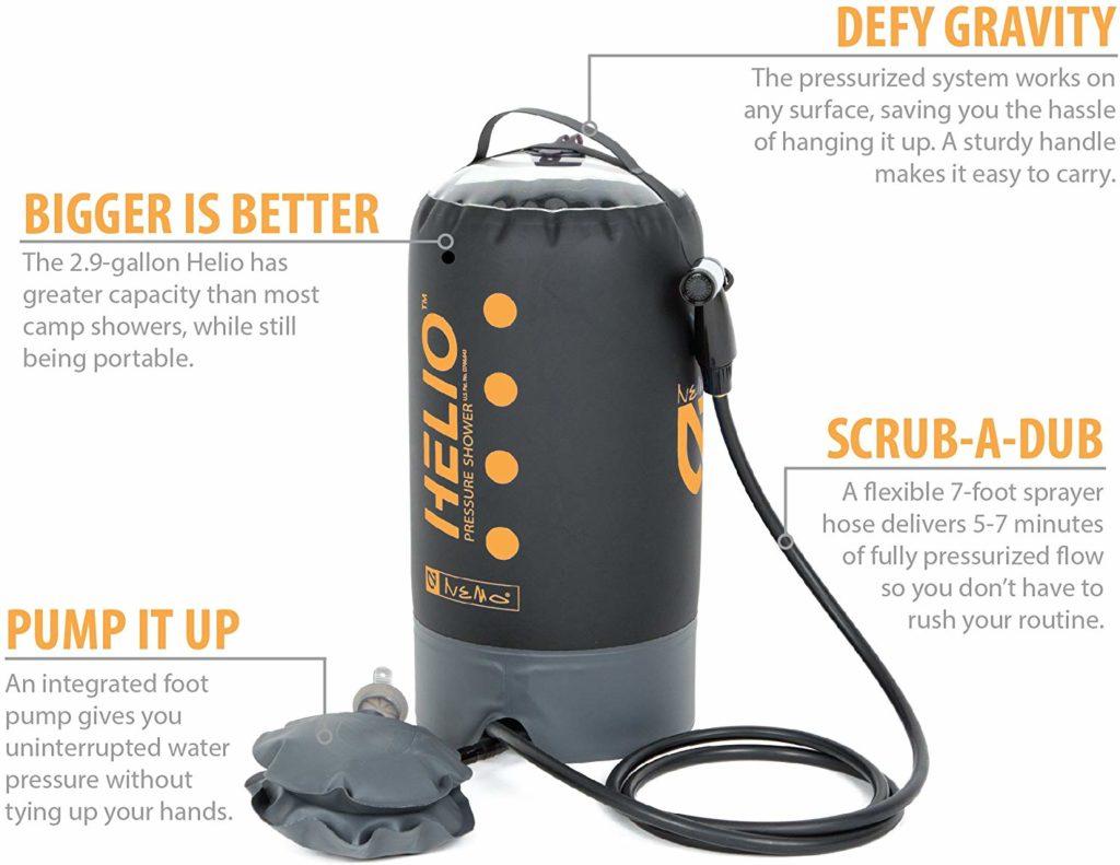 Nemo Helio Portable Pressure Shower