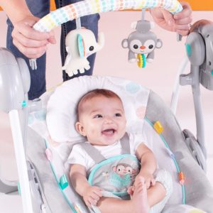Bright Starts Whimsical Wild Portable Compact Automatic Swing baby