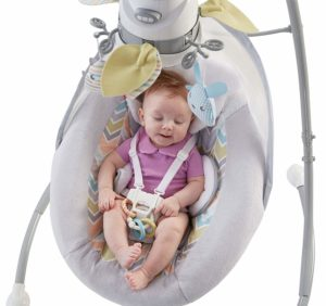 Fisher-Price Sweet Snugapuppy Dreams Cradle 'n Swing with baby