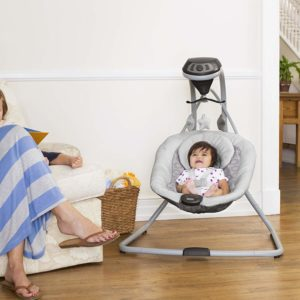 Graco Simple Sway Baby Swing with baby