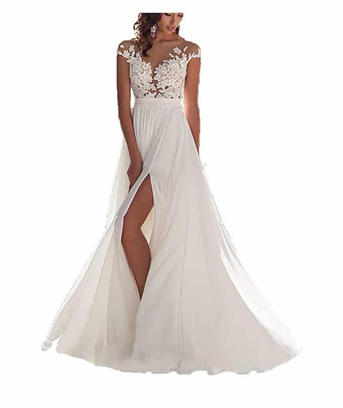 Ieuan Chiffon Beach Wedding Dress