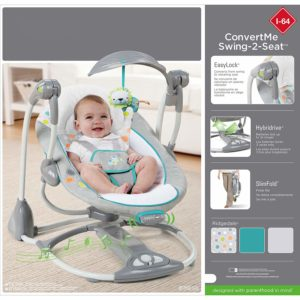 Ingenuity ConvertME Ridgedale Swing-2-Seat features