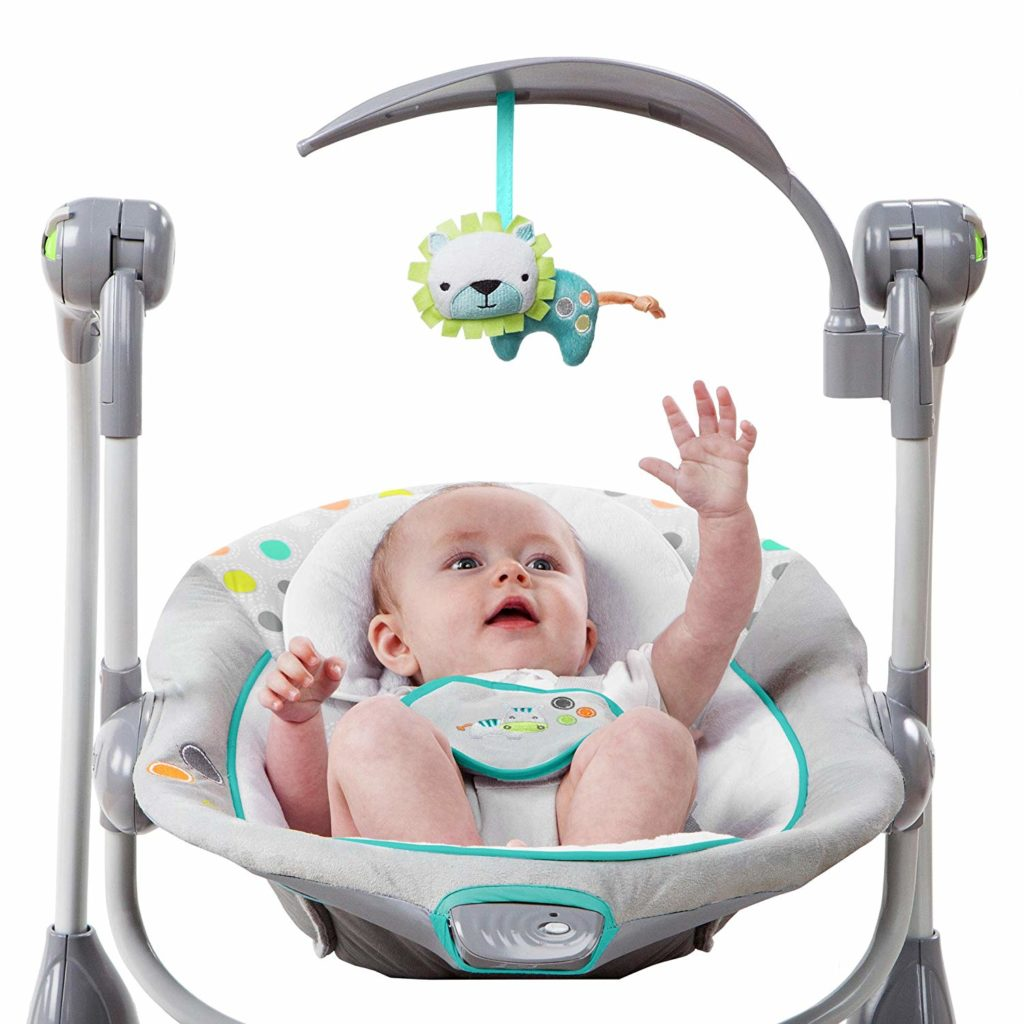 Ingenuity ConvertME Ridgedale Swing-2-Seat with baby