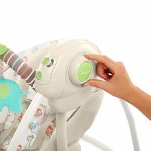 Ingenuity Cozy Kingdom Portable Swing controls