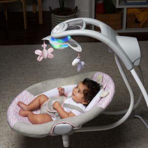 Ingenuity Inlighten Cradling Swing- Flora The Unicorn baby