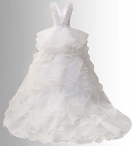 Jaeden Wedding Dress with Belt A-Line back view