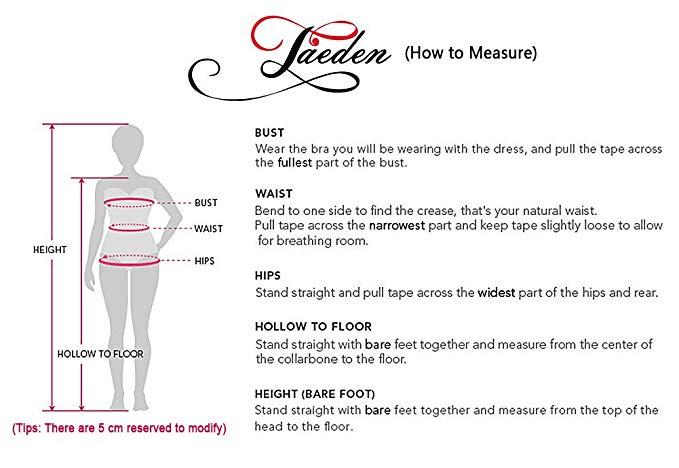 Jaeden Wedding Dress with Belt A-Line size guide