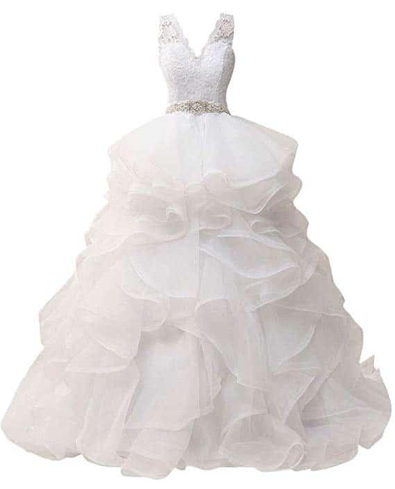 Jaeden Wedding Dress with Belt A-Line