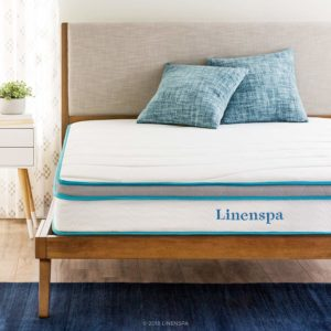 "Linenspa 8"" Memory Foam and Innerspring Hybrid Mattress with cot"