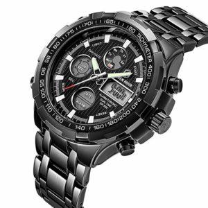Tamlee Luxury Steel Analog Digital Watch 1