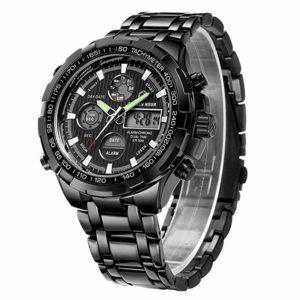 Tamlee Luxury Steel Analog Digital Watch