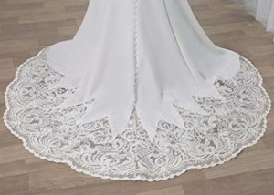 WeddingDazzle Backless Lace Appliques Mermaid Wedding Dress 2