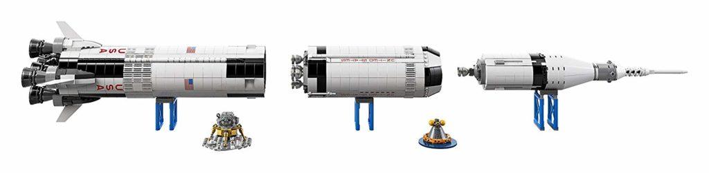 LEGO Ideas NASA Apollo Saturn V dismantled