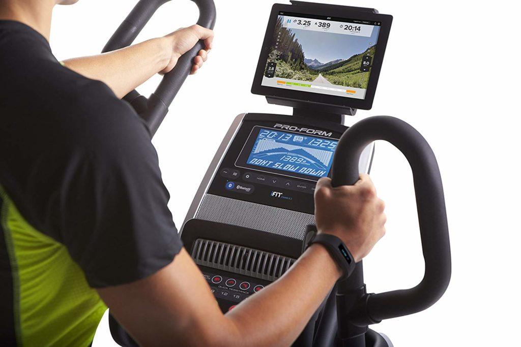 ProForm Cardio HIIT Elliptical Trainer display