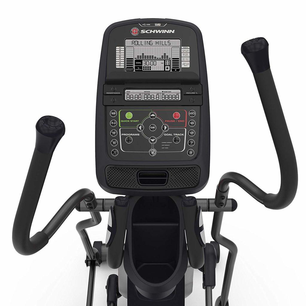 Schwinn 430 Elliptical Trainer display