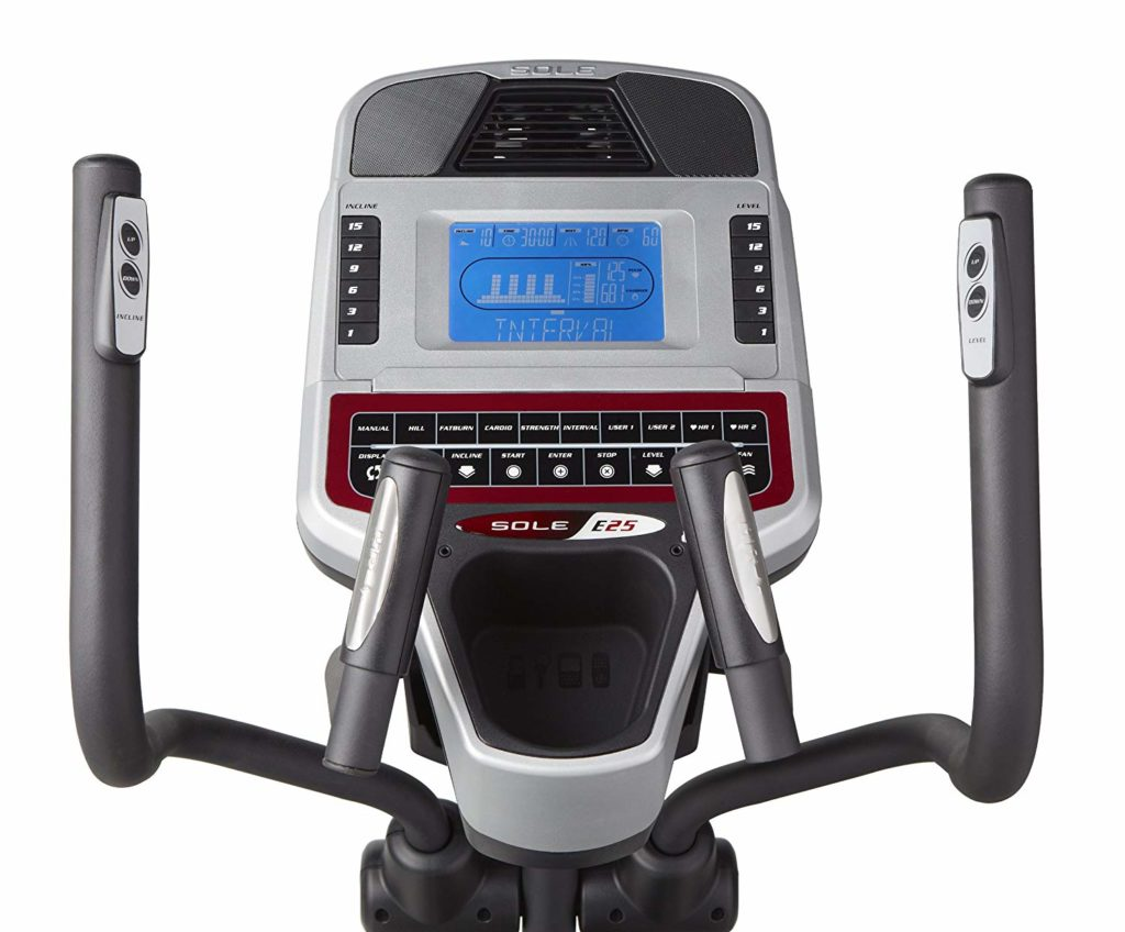 Sole Fitness E25 Elliptical Trainer display