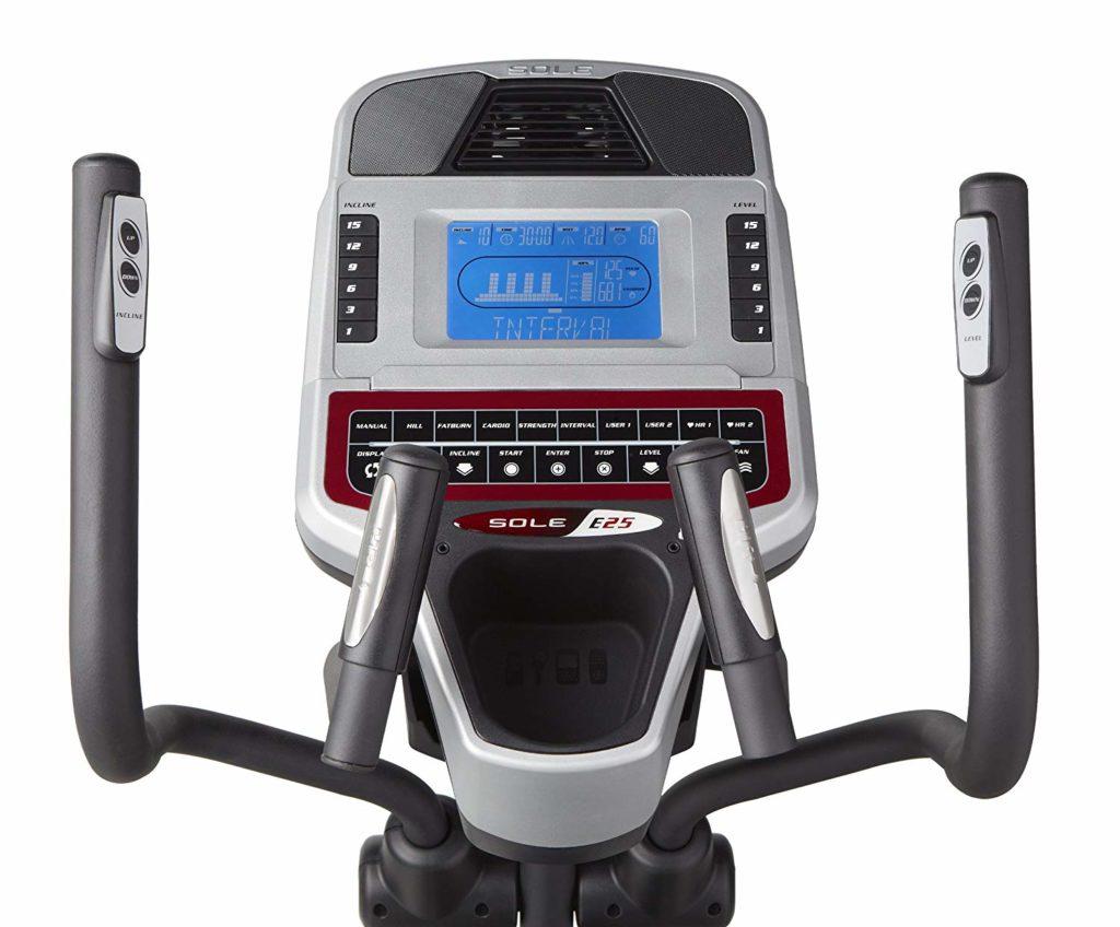 Sole Fitness E25 Elliptical Trainer display