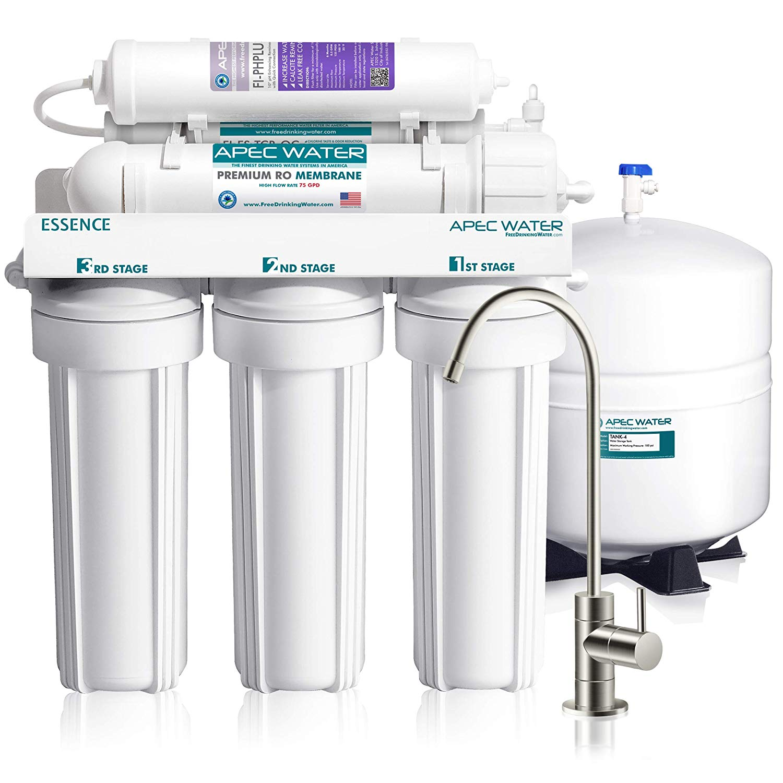 APEC Top Tier Ultra Safe Reverse Osmosis Water Filter System - 75 GPD