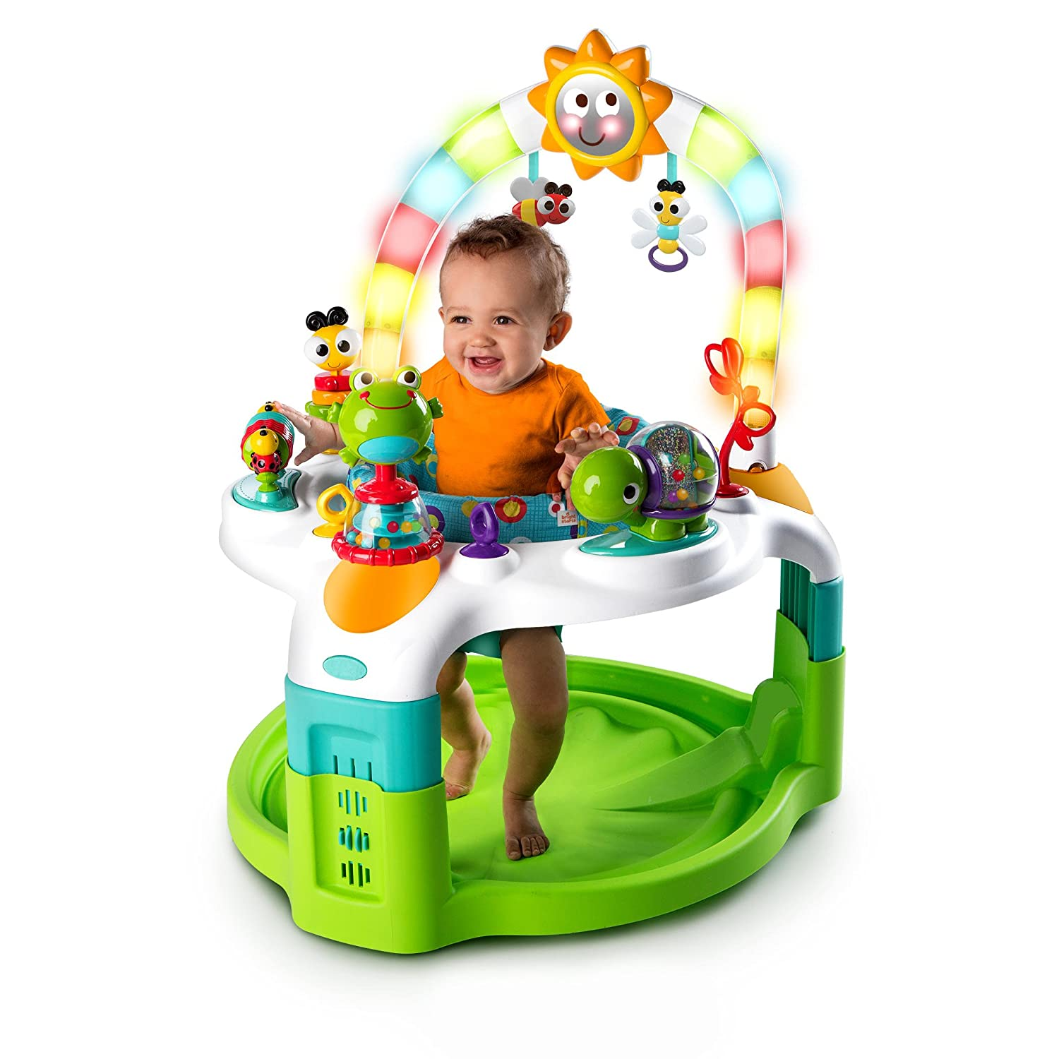 Bright Starts 2 in 1 Laugh & Lights Activity Gym and Saucer1