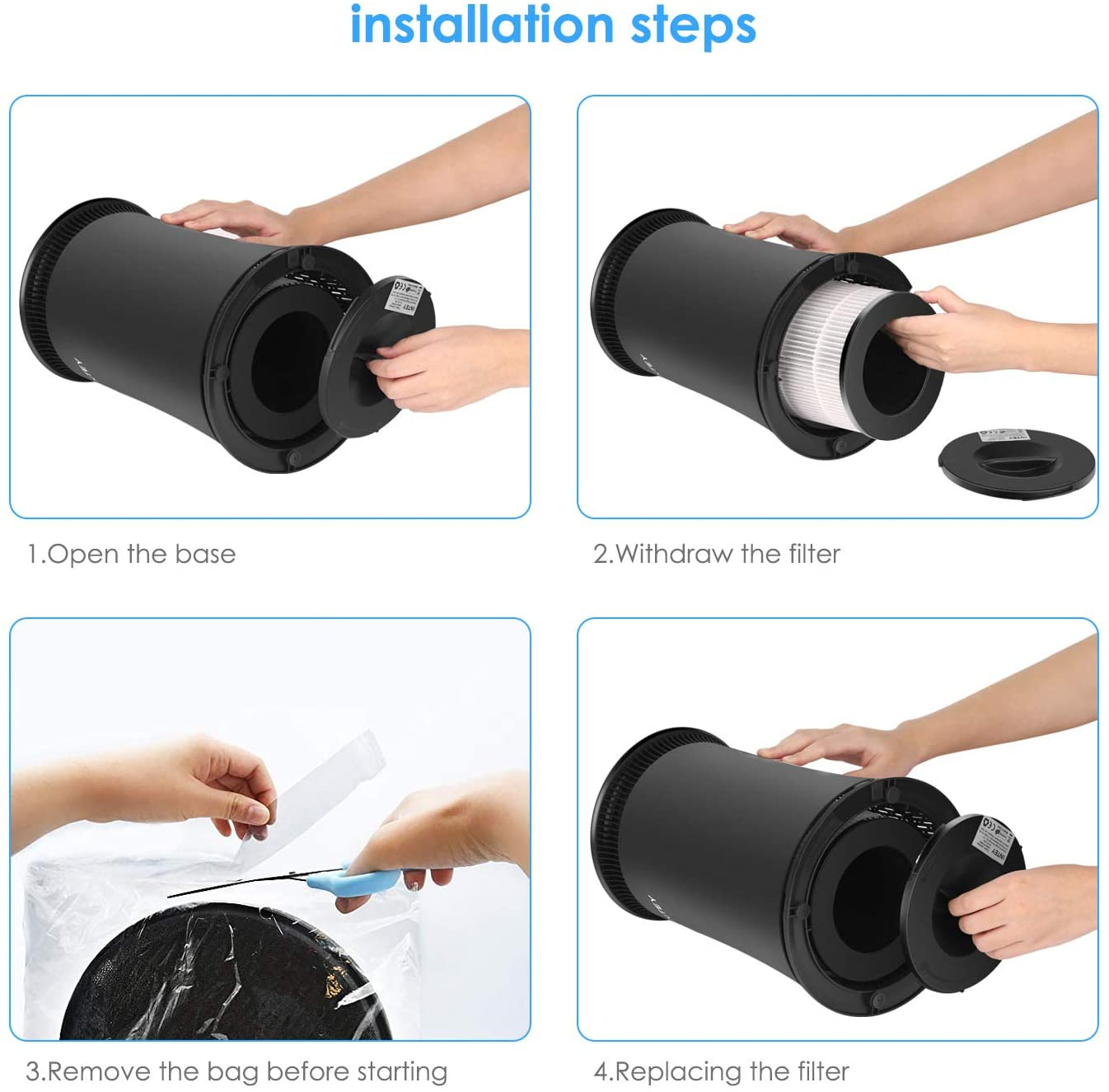 INTEY HEPA Air Purifier installation