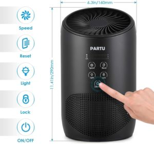 PARTU Air Purifier with True HEPA Filter