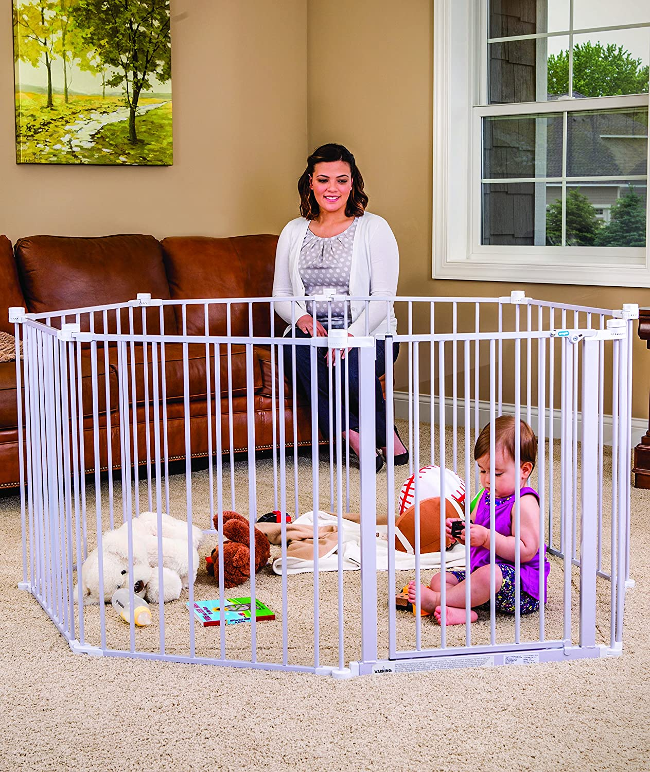 Regalo 192-Inch Super Wide Adjustable Baby Gate and Play Yard 1