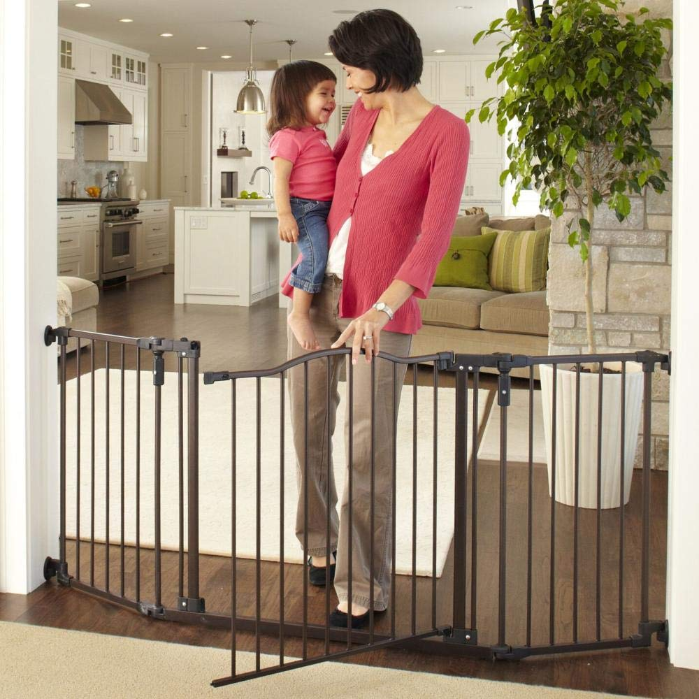 "Toddleroo by North States 72"" wide Deluxe Décor Baby Gate"
