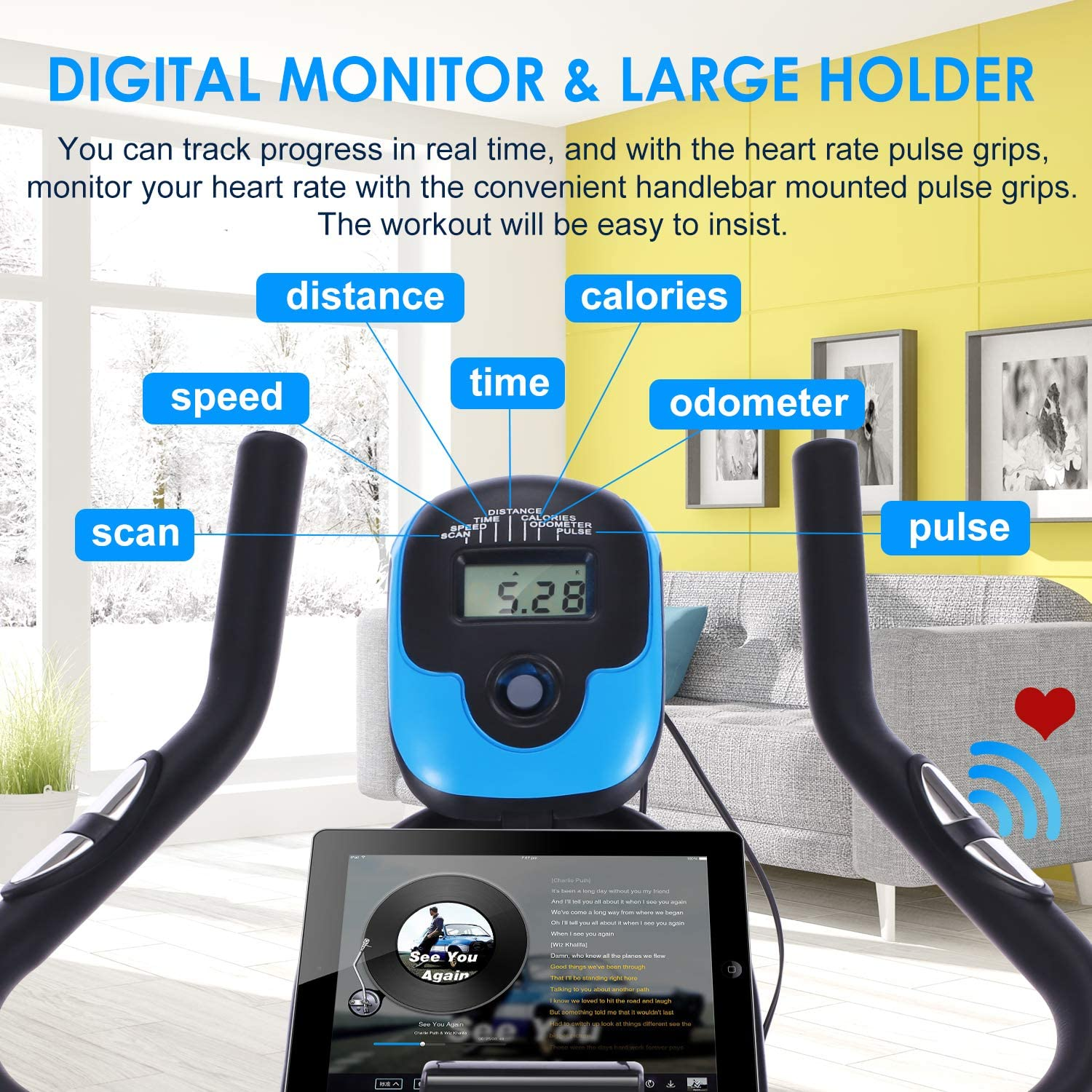 ANCHEER Exercise Indoor Cycling Bike
