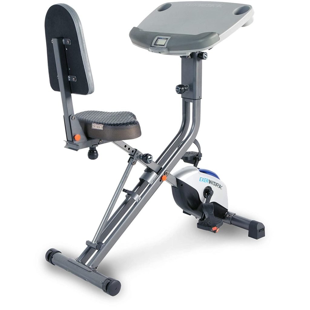 Exerpeutic Exerwork 2000i Bluetooth Folding Exercise Desk Bike