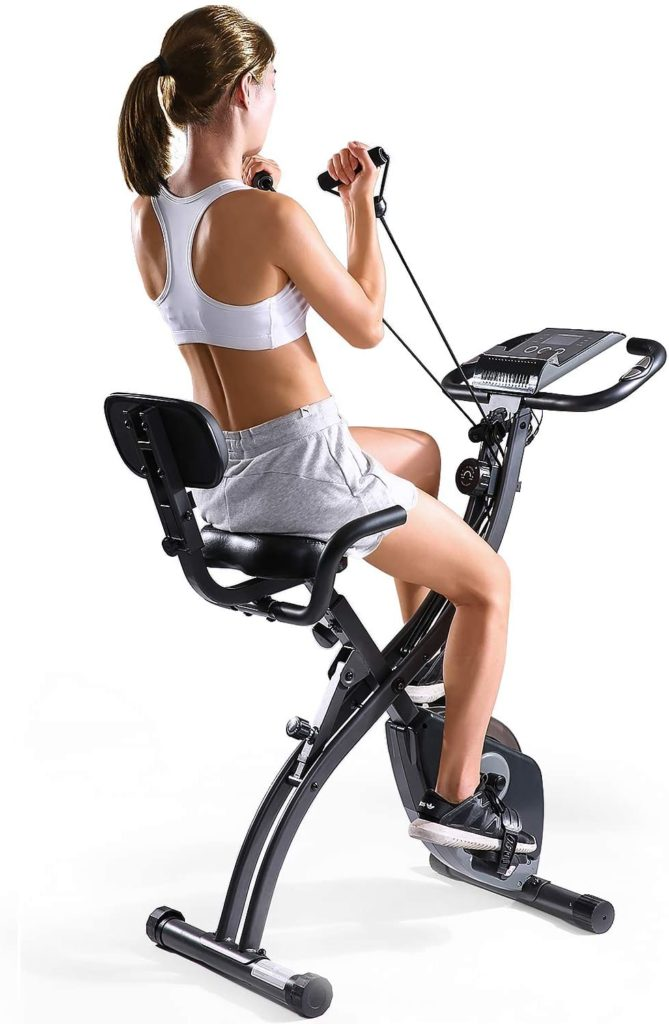 MaxKare Folding Magnetic Upright Exercise Bike