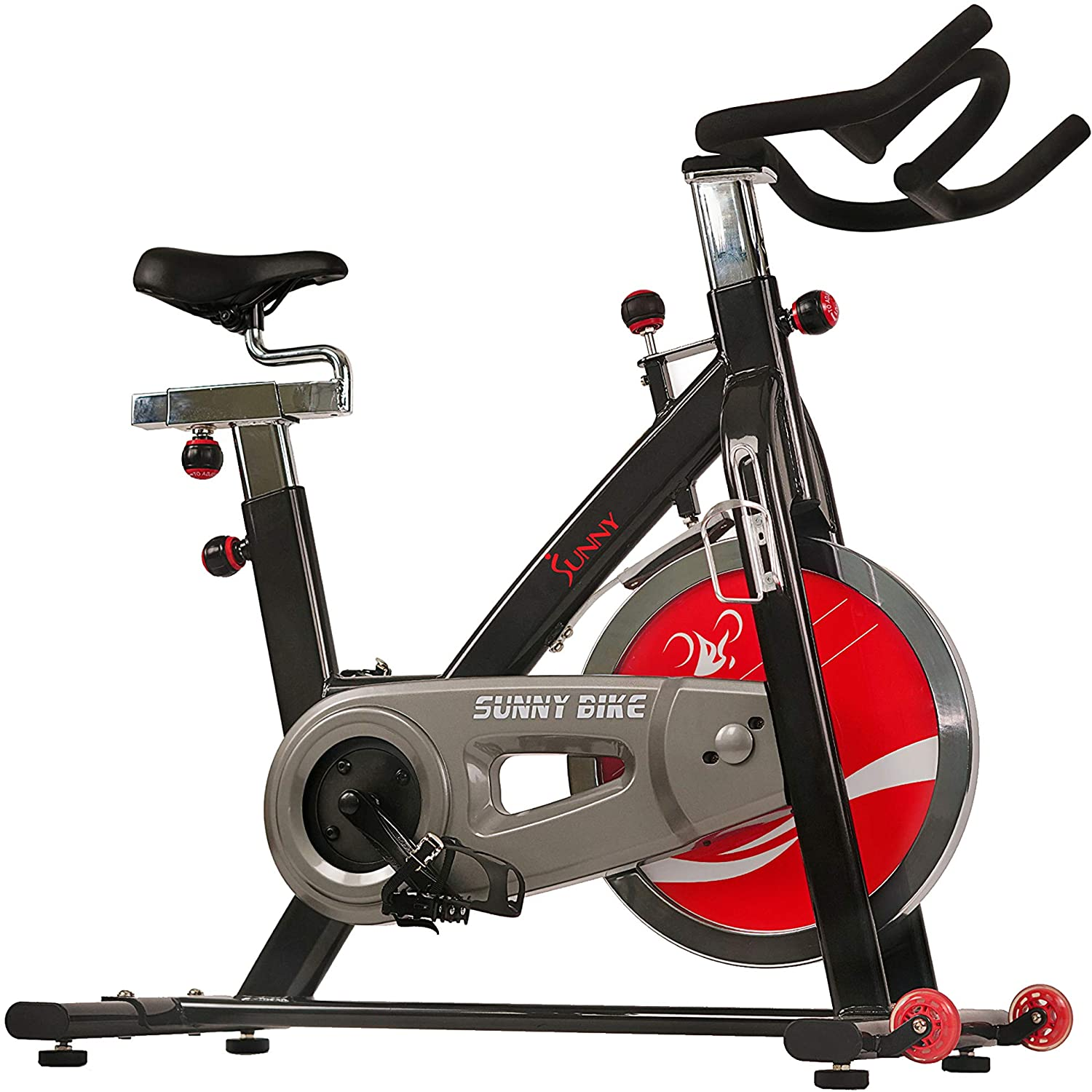 Sunny Health & Fitness 49 lbs. Chromed Indoor Cycle Bike