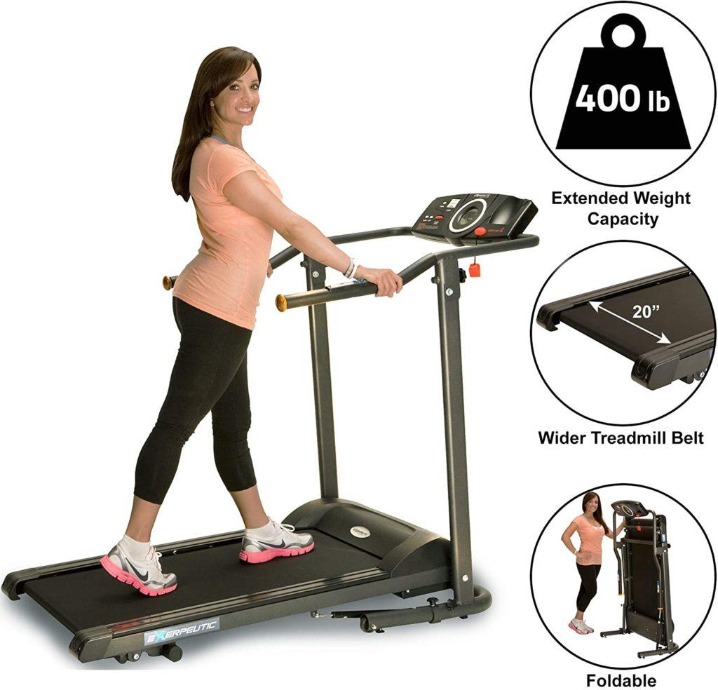 Exerpeutic TF1000 Ultra High Capacity Walk Treadmill