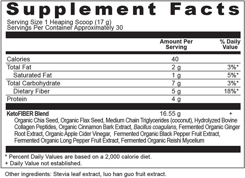 Ancient Nutrition KetoFIBER Powder