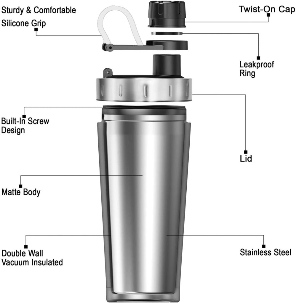 Hydro Flair Stainless Steel Protein Shaker
