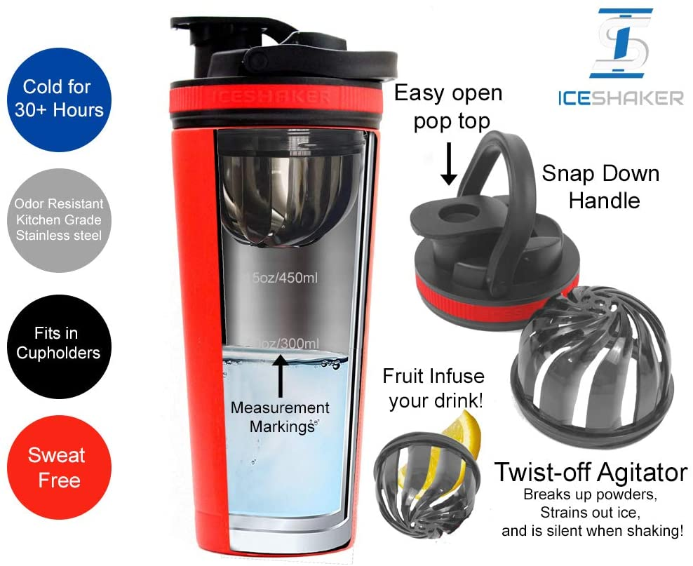 Ice Shaker Stainless Steel Protein Mixing Cup
